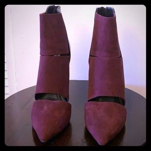 Steve Madden Two-tone Leather Heeled Booties 9.5